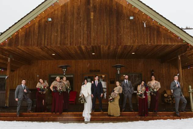 Mountain Springs Lodge Wedding Party