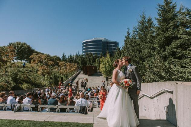 Olympic Sculpture Park outdoor wedding ceremony