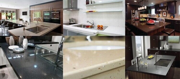 quartz stone appliccation