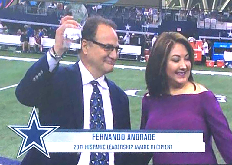 Fernando Andrade honored by the National Football League