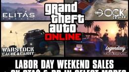 Labor Day Weekend Sales Plus Bonus GTA$ & RP in GTA Online: September 4th – 7th