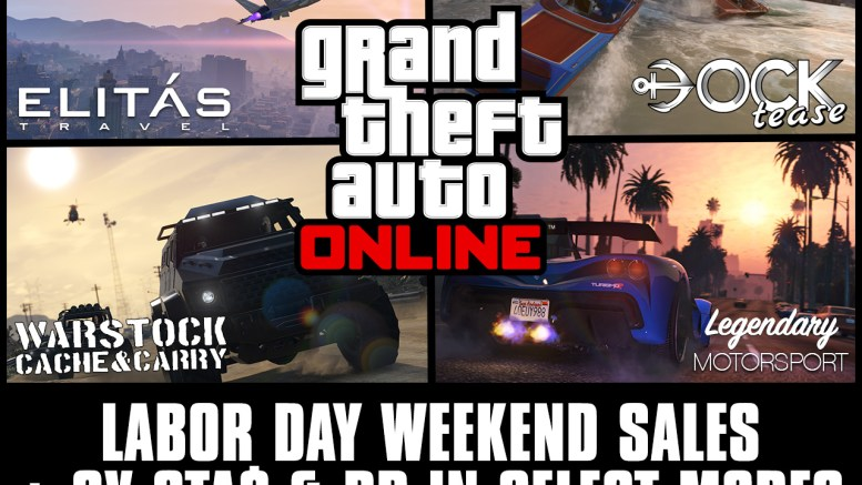 Labor Day Weekend Sales Plus Bonus GTA$ & RP in GTA Online: September 4th – 7th