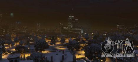 GTA 5 Christmas in Singleplayer (Snow Mod) 1.01 third screenshot