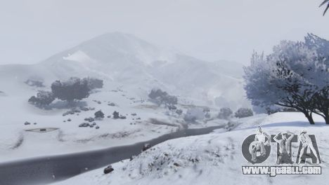 GTA 5 Christmas in Singleplayer (Snow Mod) 1.01 fifth screenshot
