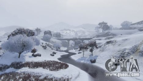 GTA 5 Christmas in Singleplayer (Snow Mod) 1.01 seventh screenshot