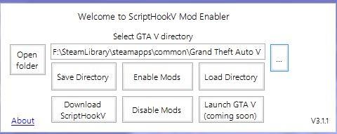 ScriptHookV Mod Enabler