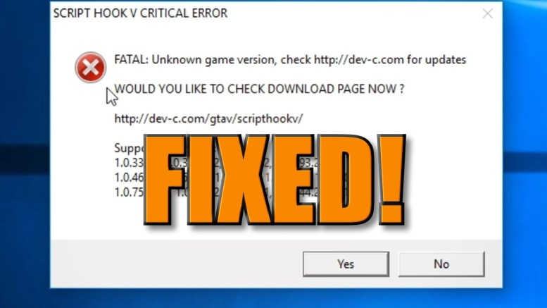 GTA 5 How To Fix SCRIPT HOOK CRITICAL ERROR