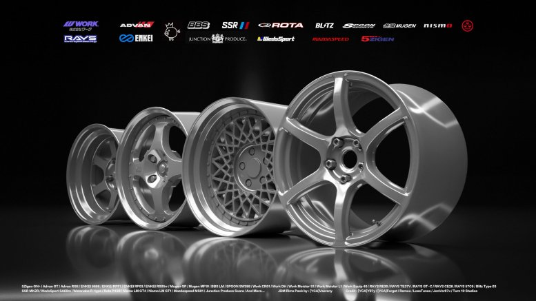 GTA 5 JDM Rims Pack [Add-on]