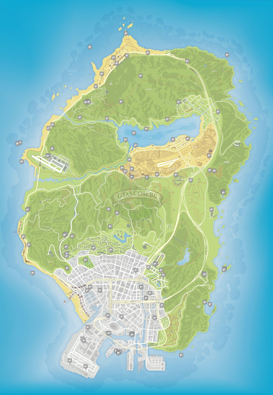 Mapa De Localizao De Armas Do GTA 5 GTA 5