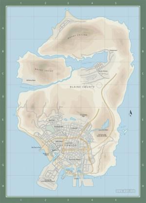 GTA 5 Map Los Santos  The map of Grand Theft Auto V