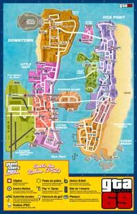 Carte des rodéos (sur PS2) de GTA VCS