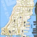 Carte vierge de GTA 4 - Liberty City - Alderney