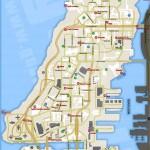 Carte des Armes, Soins, et Armures d'Alderney - GTA IV