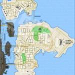 Carte vierge de GTA 4 - Liberty City - Bohan/Dukes/Broker