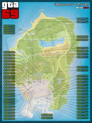 Carte des Propriétés dans GTA Online