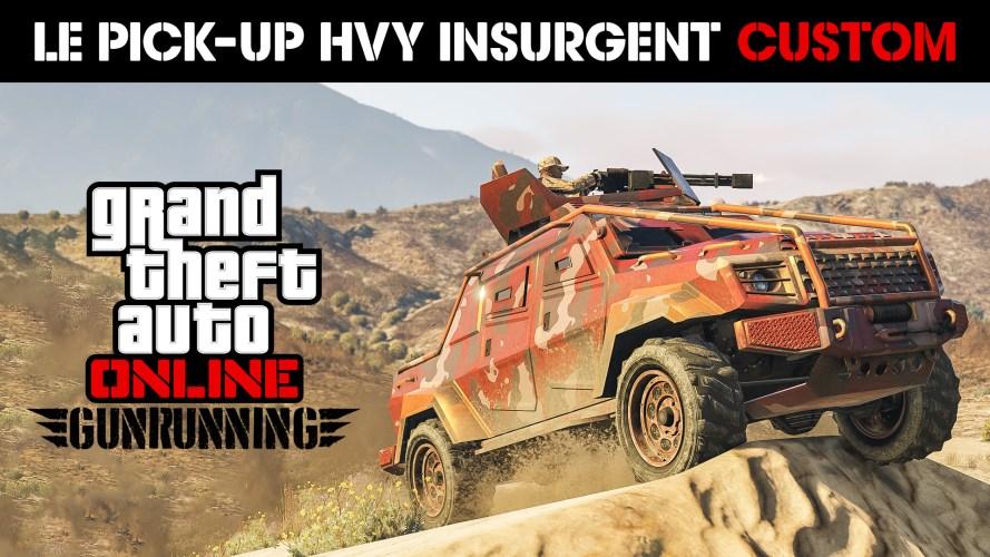 Le pick-up Insurgent custom maintenant disponible, des GTA$ et RP doublés, des promotions sur les bunkers et plus encore