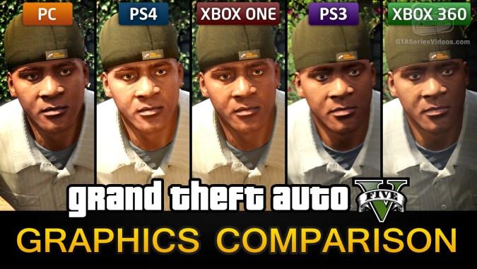 Gta 5 Graphics Comparison Pc Ps4 Xbox One Ps