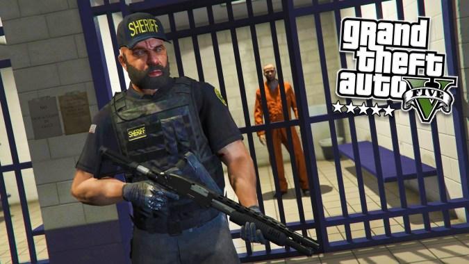 GTA 5 PC Mods – PLAY AS A COP MOD #13! GTA 5 PRISON GUARD Police Mod