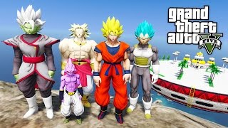 Gta 5 Mods Dragon Ball Z Mod W Super Saiyan Goku Vegeta Kid Buu Gta 5 Mods Gameplay