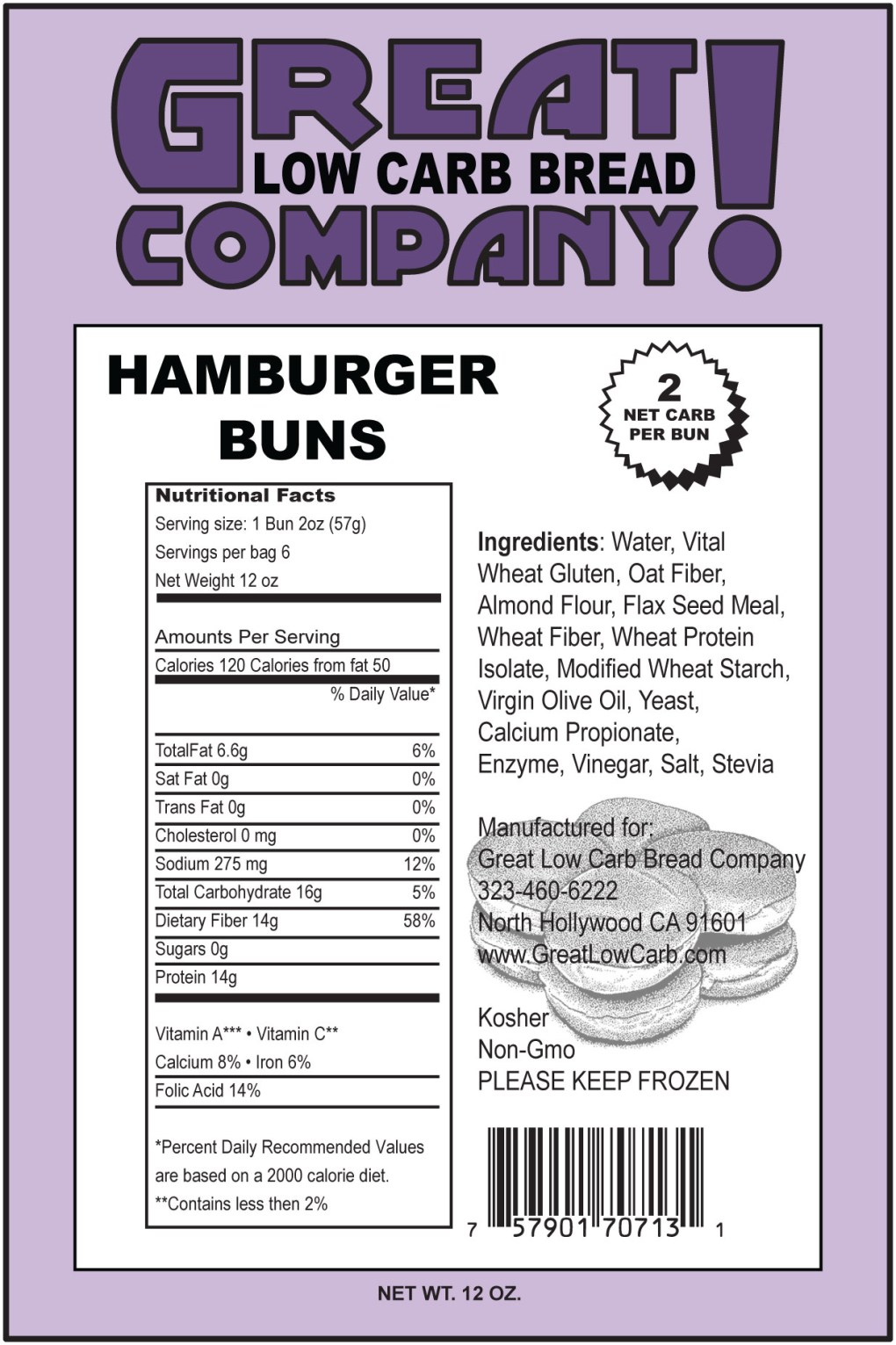 All About Nutrition: hamburger bun nutrition facts