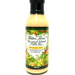 Walden Farms Salad Dressings - Thousand Island 355ml. No Calories, fat, Carbs, gluten or sugars, Kosher