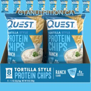 Quest Protein Ranch Tortilla Style Chips. Baked Never Fried, Soy Free, Gluten Free | Quest Nutrition is on a mission to make the foods you crave work for you not against you.