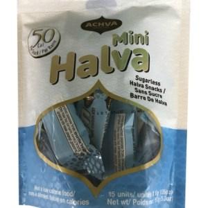 Achva Sugarless Sesame Halva Mini Pack 15x10g. Kosher, Sugarless, low carb