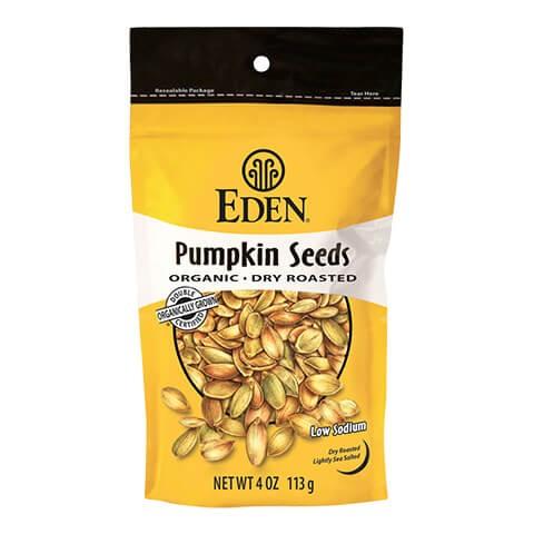 Eden Foods Organic Pumpkin Seeds 113g. Organic, High Protein, Low carb, High Fiber, Low Salt, Kosher