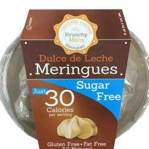 Krunchy Melts Meringues Dulce de Leche 57g. All Natural, Sugar free, Gluten free, Fat Free, Kosher