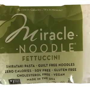 Miracle Noodle Shirataki Pasta Fettuccini 198g. Guilt Free Noodle, Low Calories & Carb, Cholesterol Free, Soy Free, Gluten Free, Vegan, NON GMO, Kosher