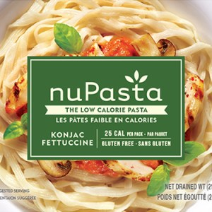 NuPasta Fettuccine 210g. LOW CARB, LOW CALORIE HIGH FIBRE GLUTEN FREE, Certified Kosher and Halal.