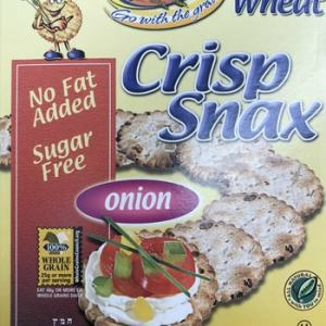 Shibolim Whole Wheat Crisp Snax Crackers Onion 170g. Kosher, No Fat Added, SugarFree