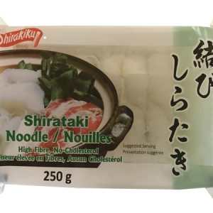 Shirakiku Shirataki Noodle 250g. Low Calories & Carb, High Fiber, Low Sodium, Cholesterol Free, Fat Free
