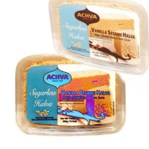 Achva Sugarless Sesame Halva Vanilla 300g. Kosher, Sugarless
