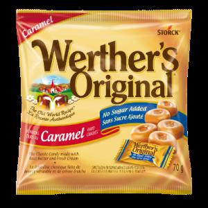 Werther's Original Hard Candies Caramel 60g. No Sugar added, The Old World Recipe.