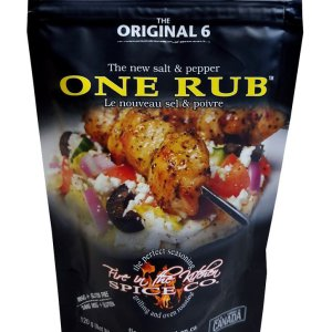 fire In The Kitchen Spices One Rub 120g. No MSG, GMO Free, Gluten Free, All-Natural No Preservative.....with half the sodium than the leading spice brands.