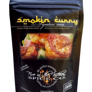 Fire In The Kitchen Spices Smoking Curry 120g. No MSG, GMO Free, Gluten Free, All-Natural No Preservative.....with half the sodium than the leading spice brands.