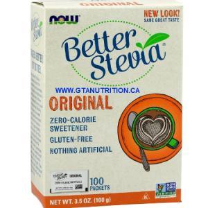 Better Stevia 100 Packets Zero-Calorie Sweetener. Gluten Free, Non GMO, Sugar Free, Low Sodium, Vegan/Vegetarian, Halal, Kosher