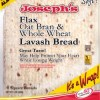 Joseph's Bakery Flax Oat Bran and Whole Wheat Flour Lavash Bread 255g. Low Carb, Low Saturated Fat, Reduced Fat, High Protein, No Cholesterol, Kosher Lavash Bread
