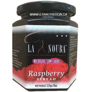 La Nouba Raspberry Spread 225g. No added preservatives, Sugar, Color or additives.