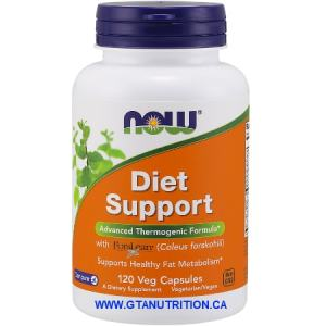 Now Diet Support Advanced Thermogenic Formula 120 Veg Capsules. A Dietary Supplement, Nut Free, Soy Free, Non GMO, Egg Free, Dairy Free, Vegan/Vegetarian