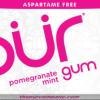 PUR Gum Aspartame Free Pomegranate Mint Sugar Free All-natural Flavors Allergen Free Vegan Non-GMO