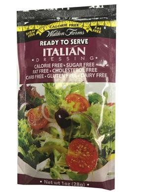 WaldenFarms - Italian Single Serve Packets 1oz. No Calories, fat, Carbs, gluten or sugars, Kosher