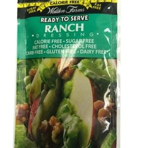WaldenFarms - Ranch Single Serve Packets 1oz. No Calories, fat, Carbs, gluten or sugars, Kosher