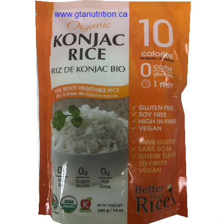 Ecoideas | Better Than Rice Organic Konjac Rice 385g. Gluten Free, Soy Free, High in Fiber, Vegan and kosher