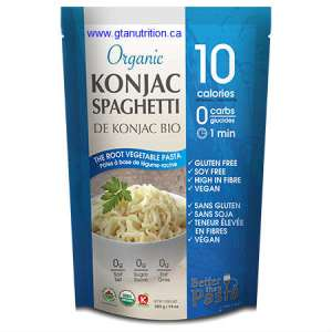 Ecoideas Organic Konjac Spaghetti Pasta 385g. Gluten Free, Soy Free, High in Fiber, Vegan and kosher