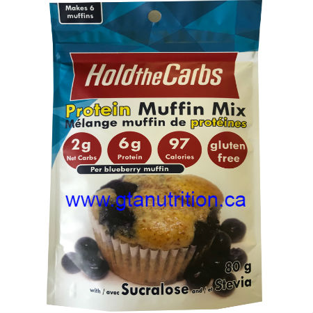 Hold The Carbs Low Carb Protein Muffin Mix small bag 80g | Low Carb Muffin Mix, Gluten Free Muffin Mix, Vegan Muffin Mix - with Sucralose and Stevia To make Low Carb Muffins, Gluten Free Muffins, Vegan Muffins
