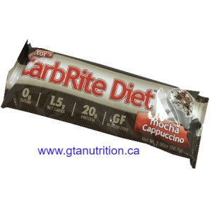 Doctor's CarbRite Diet Bar Mocha Cappuccino *New Flavor* | Sugar Free, Low Carb, No Artificial Sweetener, No Preservatives and No Trans Fat