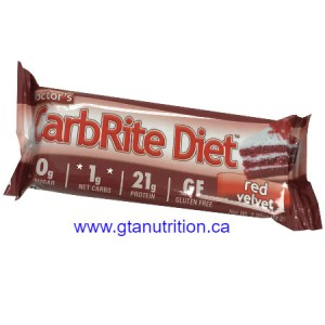Doctor's CarbRite Diet Bar Red Velvet *New Flavor* | Sugar Free, Low Carb, No Artificial Sweetener, No Preservatives and No Trans Fat