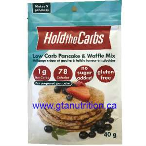 Hold The Carbs Low Carb Pancake & Waffle Mix small bag 40g   Low Carb, Gluten Free, Vegan, with Stevia.
